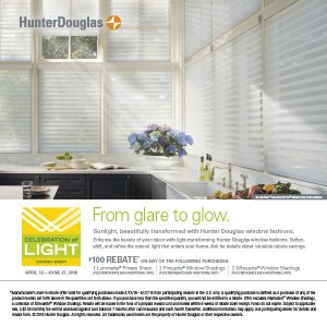 Hunter Douglas Celebration of Light Savings Event