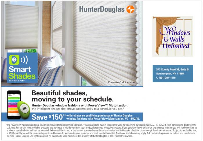 Hunter Douglas Savings Event